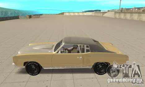 Chevy Monte Carlo [F&F3] для GTA San Andreas вид слева