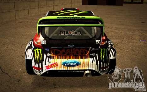 Ford Fiesta Gymkhana Four для GTA San Andreas вид сзади