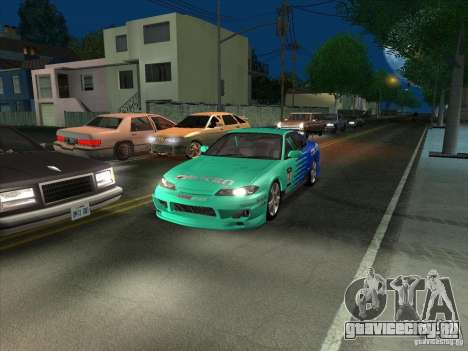 Nissan Silvia S15 Tunable KIT C1 - TOP SECRET для GTA San Andreas вид сзади