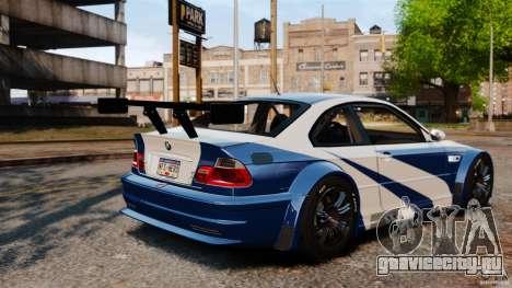 BMW M3 GTR MW 2012 для GTA 4 вид изнутри