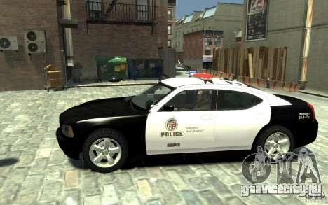 Dodge Charger LAPD V1.6 для GTA 4 вид слева