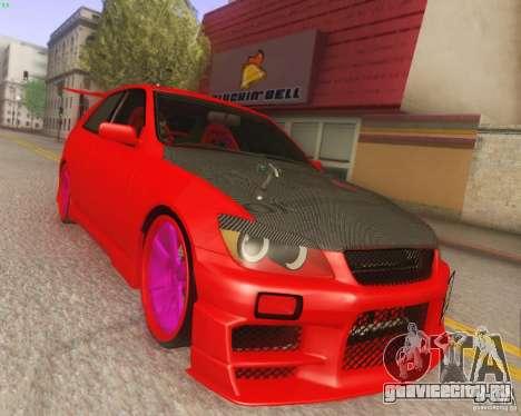 Toyota Altezza Drift Style v4.0 Final для GTA San Andreas вид сзади