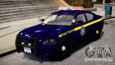 Dodge Charger NY State Trooper CHGR-V2.1M [ELS] для GTA 4 вид слева