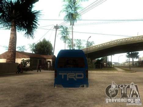 Toyota Commuter VIP Van для GTA San Andreas вид сзади слева