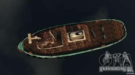 Realistic Rusty Tugboat для GTA 4 вид справа