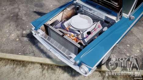 Dodge Dart 440 1962 для GTA 4 вид изнутри