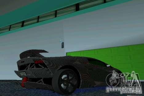 Lamborghini Sesto Elemento для GTA Vice City вид справа