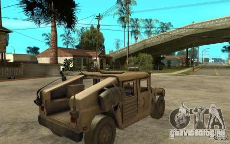 Hummer H1 War Edition для GTA San Andreas вид справа