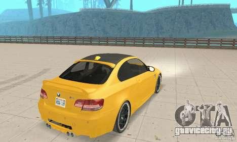 BMW M3 2008 Hamann v1.2 для GTA San Andreas вид справа