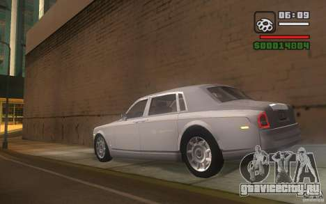Rolls-Royce Phantom EWB для GTA San Andreas вид сзади слева
