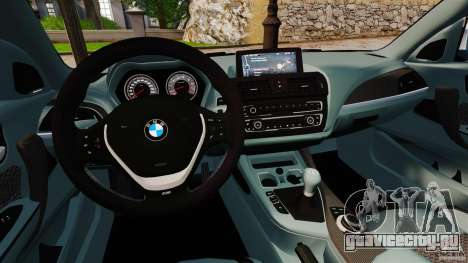 BMW 135i M-Power 2013 для GTA 4 вид сзади