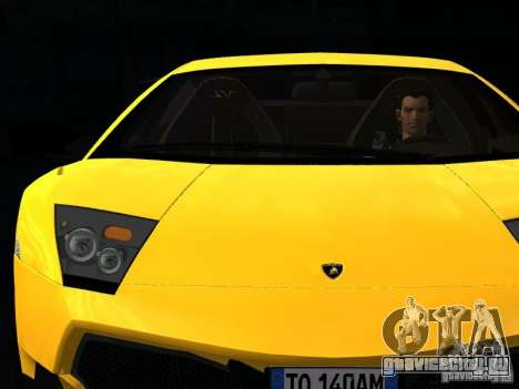 Lamborghini Murcielago LP670-4 sv для GTA San Andreas вид снизу