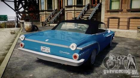 Dodge Dart 440 1962 для GTA 4 вид сзади слева
