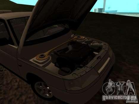 ВАЗ 21103 для GTA San Andreas вид изнутри