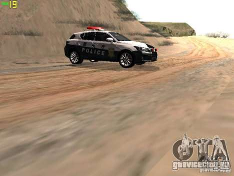 Lexus CT200H Japanese Police для GTA San Andreas вид сзади