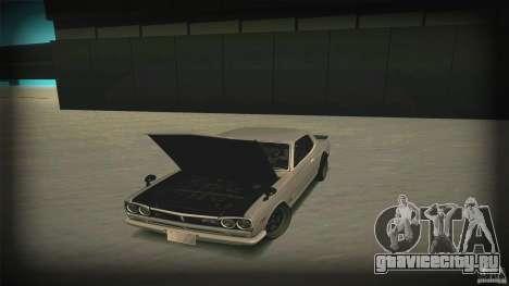 Nissan Skyline 2000GT-R JDM Style для GTA San Andreas вид снизу
