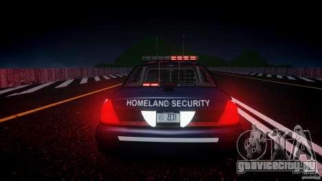 Ford Crown Victoria Homeland Security [ELS] для GTA 4 вид сверху