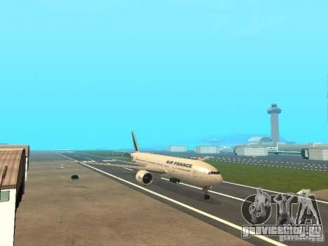 Boeing 777-200 Air France для GTA San Andreas вид слева