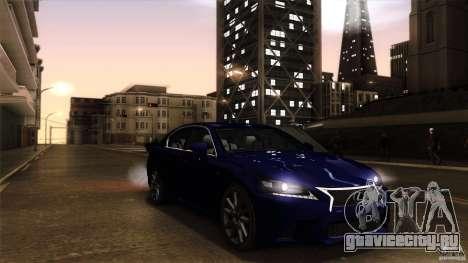 Lexus GS350F Sport 2013 для GTA San Andreas вид справа