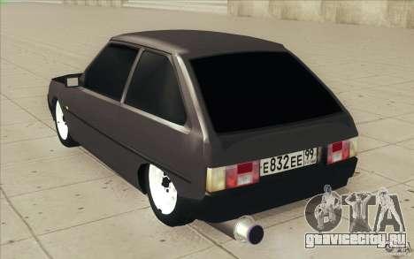 ЗАЗ-1102 Таврия Tuning для GTA San Andreas вид сбоку