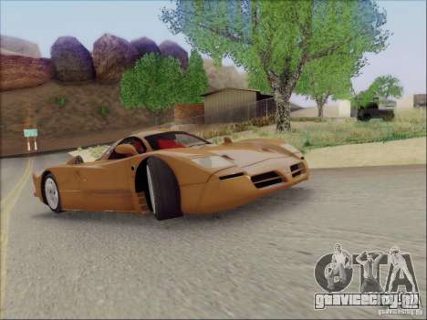Nissan R390 Road Car v1.0 для GTA San Andreas вид сзади