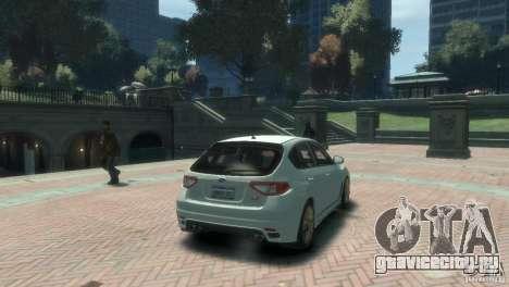 Subaru Impreza WRX STI для GTA 4 вид слева