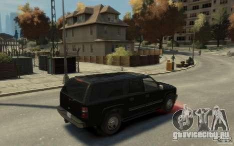 Chevrolet Suburban 2003 FBI для GTA 4 вид справа