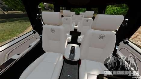 Cadillac Escalade ESV 2012 для GTA 4 вид изнутри