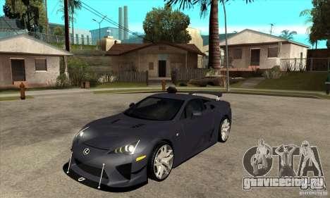 Lexus LFA 2010 v2 для GTA San Andreas