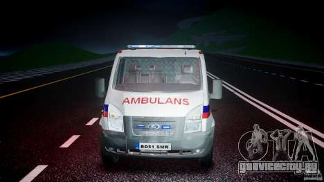Ford Transit Polish Ambulance [ELS] для GTA 4 вид сбоку