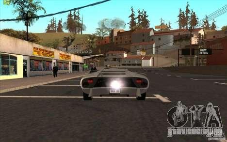 Infernus из GTA 4 для GTA San Andreas вид сзади слева