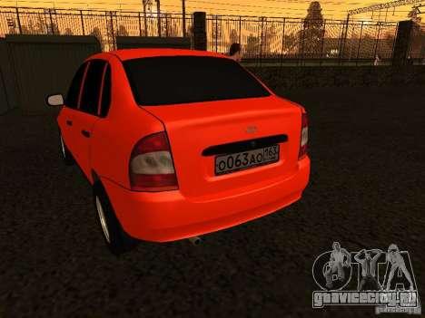 ВАЗ 1118 для GTA San Andreas вид справа
