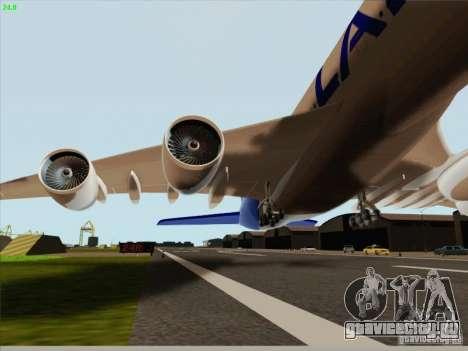 Airbus A380-800 Lan Airlines для GTA San Andreas вид изнутри