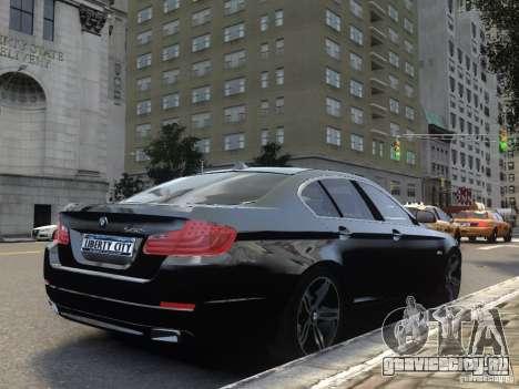 BMW 550i F10 для GTA 4 вид сзади