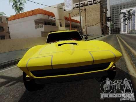 Chevrolet Corvette 1967 для GTA San Andreas вид справа