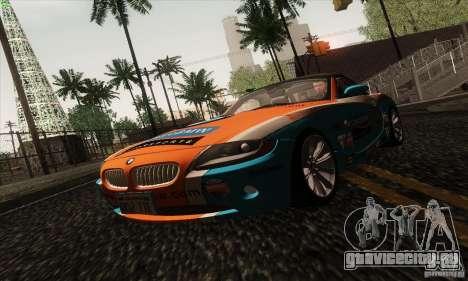 BMW Z4 для GTA San Andreas вид снизу