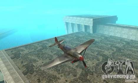 Як-9 в раскраске Севастополь для GTA San Andreas вид изнутри