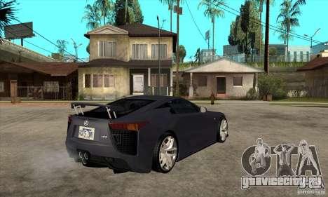 Lexus LFA 2010 v2 для GTA San Andreas вид справа