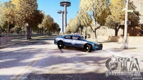 POLICIA FEDERAL MEXICO DODGE CHARGER ELS для GTA 4 вид сверху