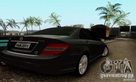 Mercedes-Benz C180 для GTA San Andreas вид справа