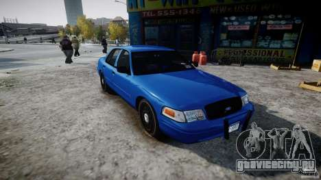 Ford Crown Victoria Detective v4.7 [ELS] для GTA 4 вид справа