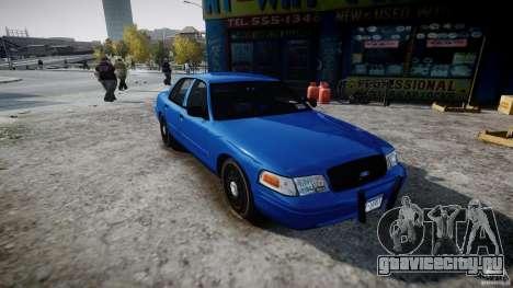 Ford Crown Victoria Detective v4.7 [ELS] для GTA 4 вид справа