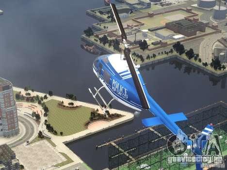 Bell 206 B - NYPD для GTA 4 вид сверху