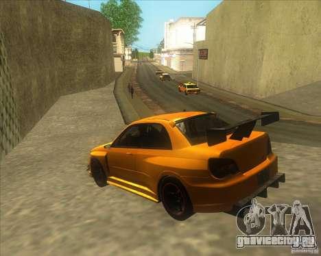 Subaru Impreza STi tuned для GTA San Andreas вид слева