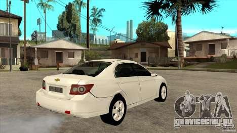 Chevrolet Epica 2008 для GTA San Andreas вид справа