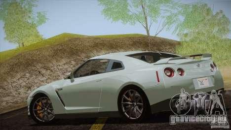 Nissan GTR Black Edition для GTA San Andreas вид сзади
