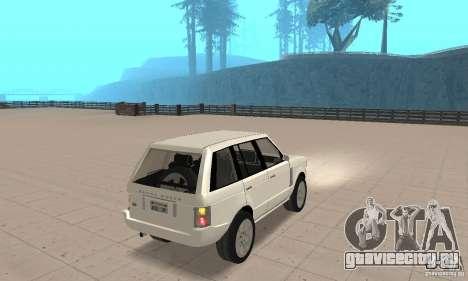 Range Rover Vogue 2003 для GTA San Andreas вид слева