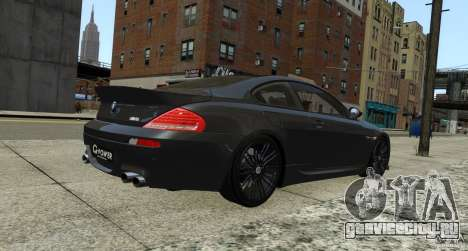 BMW M6 Hurricane RR для GTA 4 вид справа