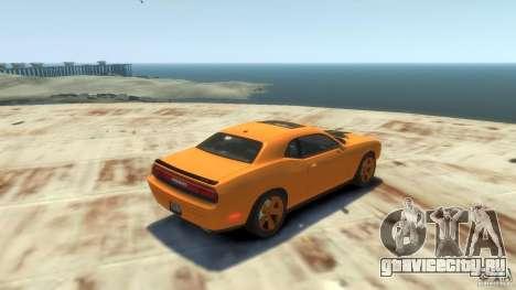Dodge Challenger SRT8 для GTA 4 вид сзади