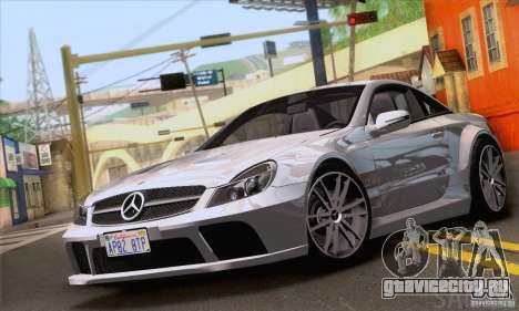 Mercedes-Benz SL65 AMG Black Series для GTA San Andreas вид сверху